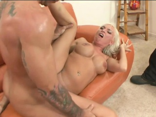 Blonde wife Lennox loves fat cock
