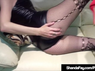 Hot Cougar Shanda Fay Gets their way limbs Rubbed & Pussy brimming!