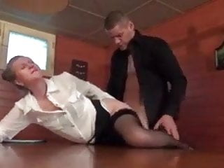 French cougar bourgeoise having buttfuck fuck-a-thon with youthful stud