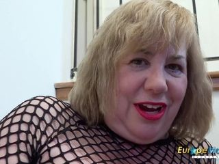 EuropeMaturE huge-boobed brit Mature onanism x