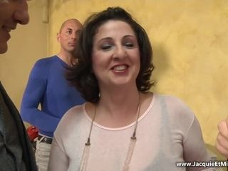 French mom steamy gang-fuck flick