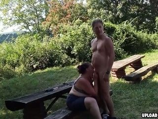 Naughty wifey Dicked Outdoors