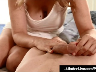 Step mummy Julia Ann Wakes Up Step son-in-law With hand job!
