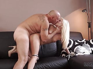 DADDY4K. Nosey ash-blonde desired to attempt romp with accomplished..