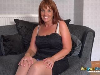 EuropeMaturE Solo Mature female frolicking getting off