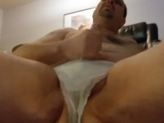 Dressed in my wife's undies and draining Part12