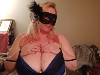 Plus-size masquerade undergarments with rope on surprise
