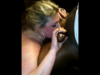 Milky insatiable whore Does PB & J blow-job with big black cock at soiree, sloppy Peanut Butter