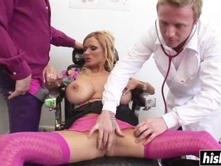 Lustful cougar medical center gang-fuck