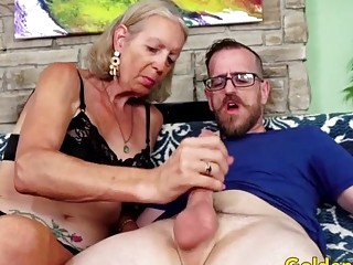 Golden hoe senior girls display off Their pecker blowing abilities Compilation trio