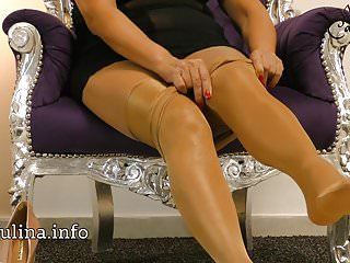 Layered effulgent Nylons Pantyhose egotistical follow closely Pumps Freehand JOI