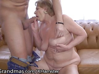 Mature Gets her tits throated and youthful fuckpole Injected!