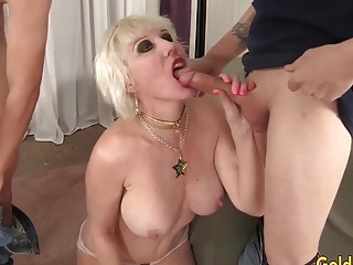 Outstanding granny Dalny Marga pummels 5 naughty Bastards and Wears Them Out