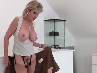 Unfaithful british milf gill ellis shows off her gigantic ti