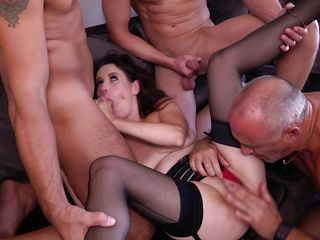 Huge-titted Mature In A crazy group shag
