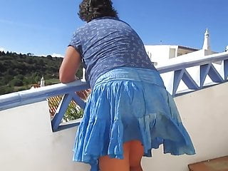 Broad in the beam prat full-grown become man - draughty upskirt