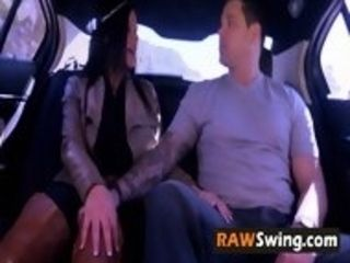 Swinger wifey fulfils her idea of bringing crazy hubby to the house