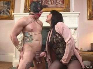 Highly big-boobed mother female domination whips gimp gimp