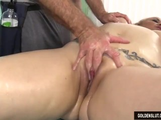 Elder statesman peaches Summer Has their way company with the addition of Genitals Massaged