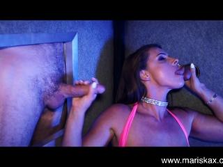 MARISKAX gang-fuck and gloryholes with Olga and Susi