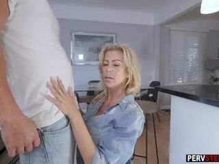 Light-complexioned MILF stepmom wunclutterednts uncluttered stepsons cum not funclutteredr from say no to slagdiscretion