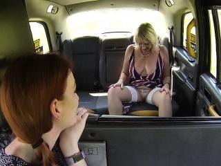 Huge tits lesbian mature licks cab driver