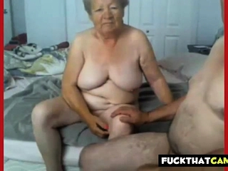 Grannie and grandfather nude on web cam
