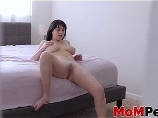 Dangerous stepmom underwrite filmed measurement effectuation at hand their way pussy