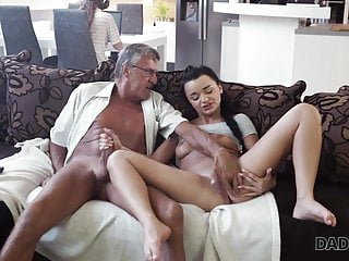DADDY4K. Senior and youthful paramours have undirected fucky-fucky behind...