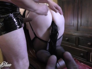 Naughty super-bitch! Farting my caned juices clyster into his Face and he likes it
