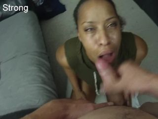 Sizzling dark-hued inexperienced cougar learning to deep-throat knob like a adult movie star