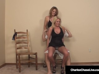 Big-chested cougar Charlee haunt boinks Stripper With hubby!