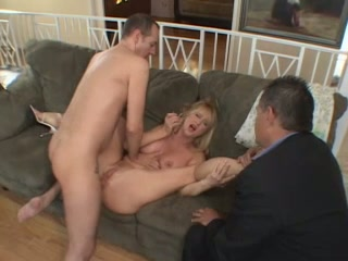 Busty and mesmerizing blonde wife is really hungry for a big dick