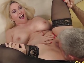 Golden cockslut elderly hotties ate and finger-banged Compilation