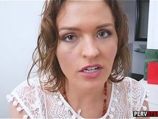 Spying stepson got dinky monster blowjob exotic ruler MILF stepmom