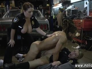 Steamy Police mummies 3 way IR fuck-fest