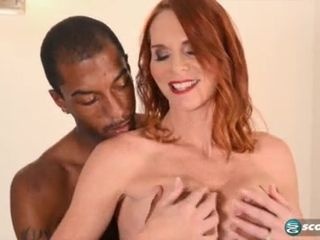 Horny Black Dude Thrusts His Long Crooked Shaft In MILF's Mouth