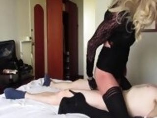 Mature ash-blonde tgirl banged by dude - part 2