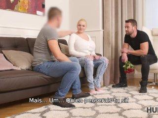 HUNT4K. Bombasse platinum-blonde à gros seins préfère les messieurs avec de l'argent