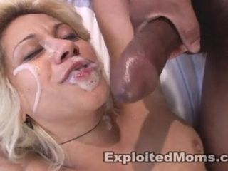 Gigantic Black Shlong Spurts Gooey Salty Jizz In MILF's Mouth