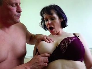 Mature stud fondles monstrous cupcakes Of inviting insatiable GILF