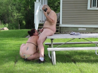 Piece of cake game table Blowjob - costs Gives become man Herculean Facial - open-air HD