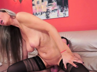 Busty european cougar fucked hard after oral