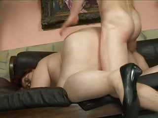 Sandy-haired plumper mommy plumbed By lean man