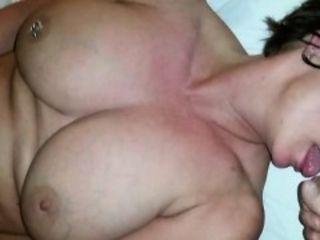 Big boobs gf facial