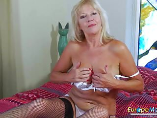 EropeMaturE Milf fair-haired effectuation solitary roughly Dildo