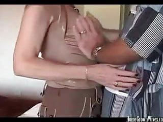 Homemade cougar creampie grandma porn