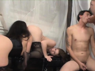Hot foursome session with bi-sexual dudes