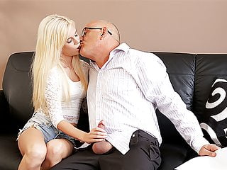 Father4K. Trimmed father opens up divine blond Candee Licious..