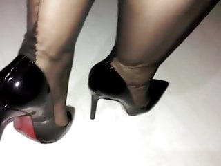 High-heeled shoes and Nylon